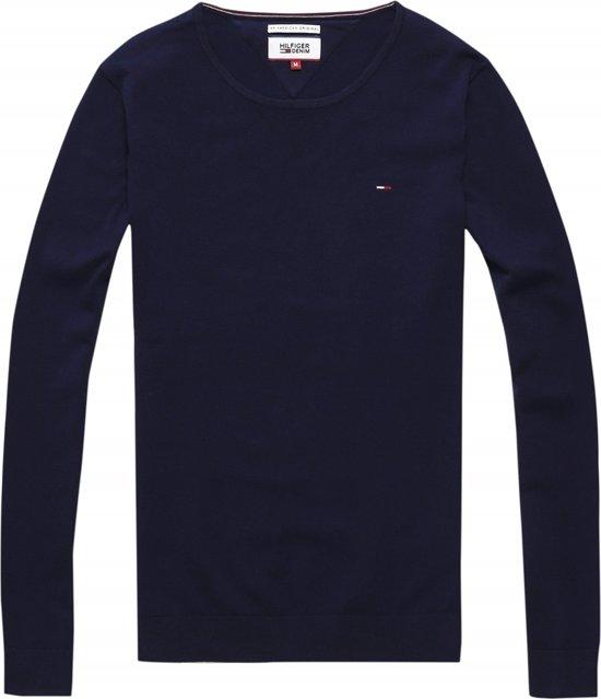 a0c94df21f8 bol.com | Tommy Hilfiger CN Sweater l/s - Shirt - Heren - Maat M - Blauw