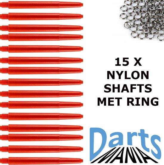 Darts-Mania Rood Medium (48 mm.) incl. veerringetjes 5 sets - Dart - Shafts