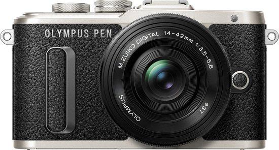 Olympus PEN E-PL8 - Zwart + 14-42mm EZ