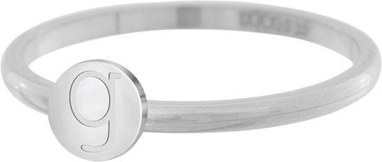 iXXXi Vulring Alfabet G zilverkleurig 2mm - maat 19