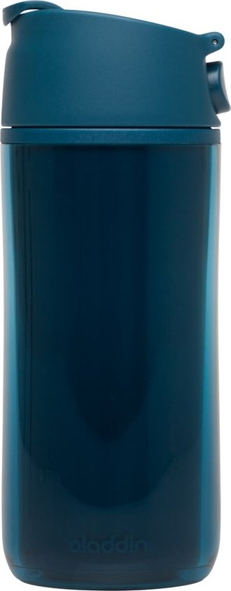 Aladdin Flip & Sip Drinkbeker - Kunststof - Dubbelwandig - 0.35 l - Marina - Blauw