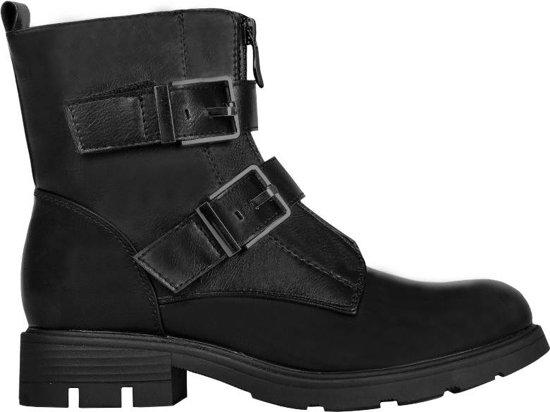 Wonderlijk bol.com | Stoere zwarte boots laarzen met gesp LV-93