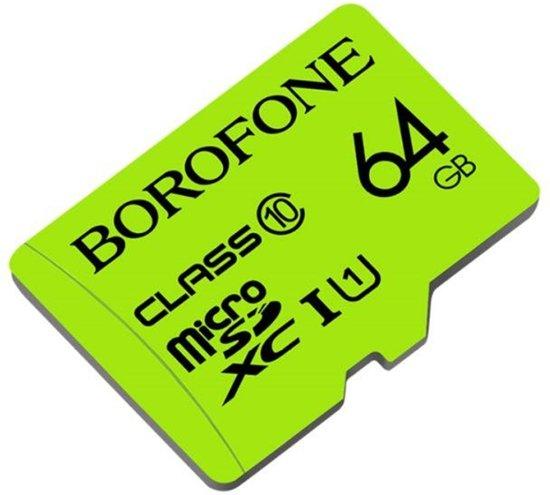 64GB BOROFONE TF high-speed geheugenkaart micro-SD SDXC Class 10