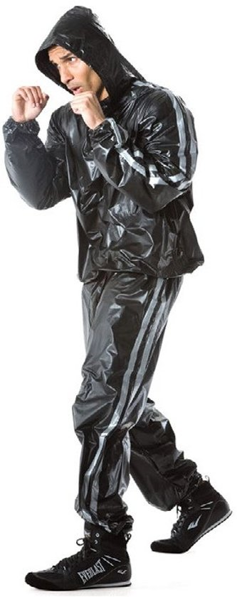 Super Sweat Hooded Sauna Suit Black XL/XXL