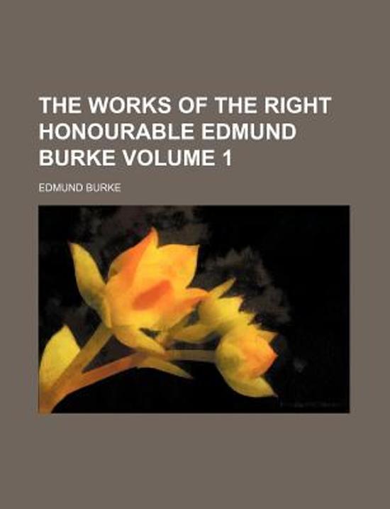 Works Edmund Burke, First Edition