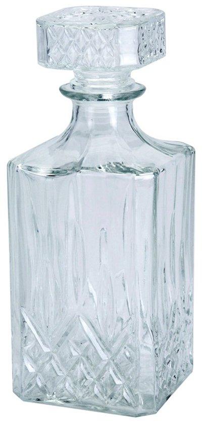 Karaf Sierfles - Karaf Sterke drank - Whiskey - Cognac - Glazen karaf - 900 ml (0.9L)