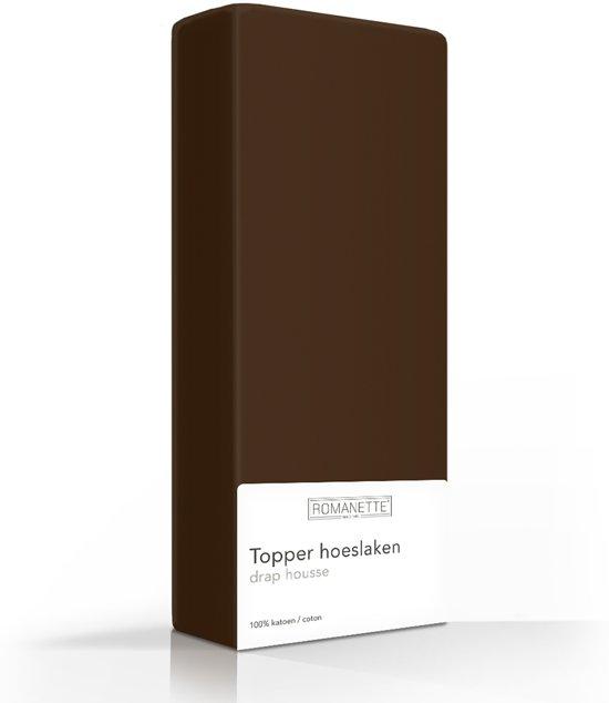 Luxe Katoen Topper Hoeslaken Taupe | 80x200 | Ademend En Verkoelend | Uitstekende pasvorm