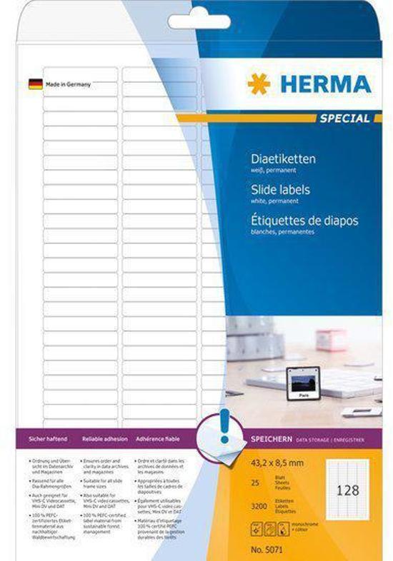 Herma Slide labels white 43,2x8,5 SuperPrint 3200 pcs.
