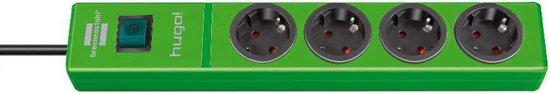 Brennenstuhl Hugo! 4-voudige groene stekkerdoos - 2 meter