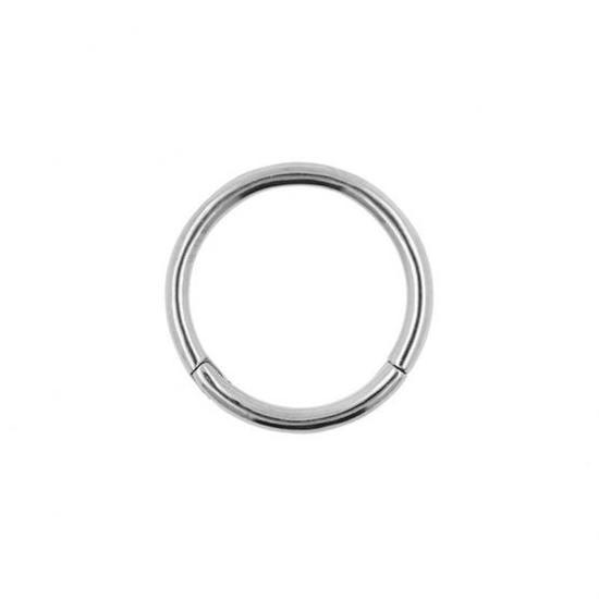Click ring piercing sieraad. Hoge kwaliteit titanium, 10mm (1,2mm dikte)