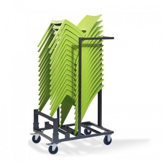 Trolley Klein voor transport Stapelstoelen (Stapelstoelen niet inbegrepen)