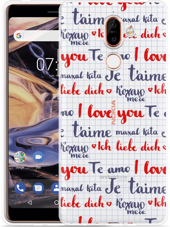 Nokia 7 Plus Hoesje I Love you