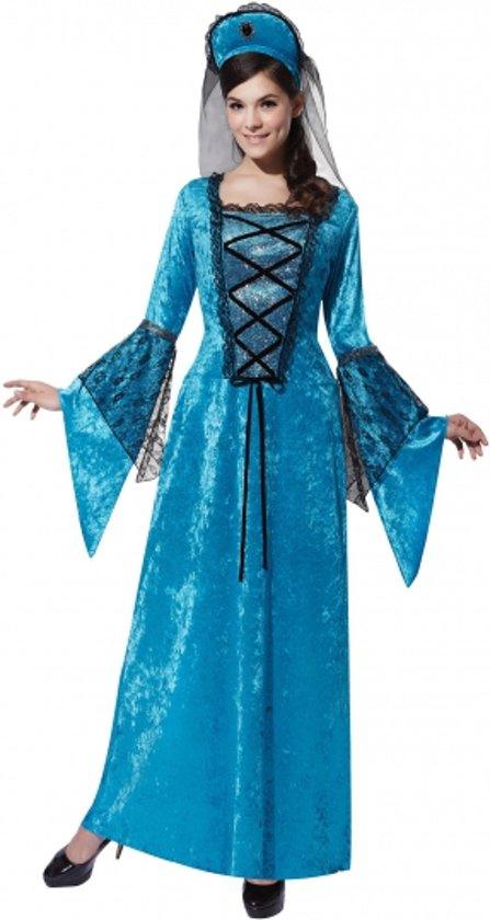 Halloween - Middeleeuwse prinses jurk blauw
