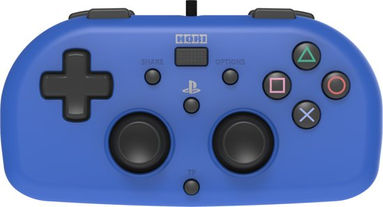 Hori PlayStation 4 Mini Gamepad - Kids Controller - Official Licensed - Blauw
