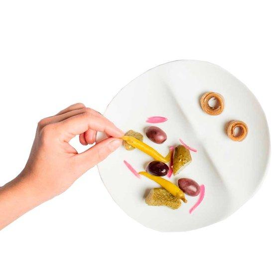 Cookplay Shell Dessert bord - 2-delig - Porselein - 20 cm - Wit