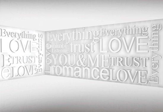 Fotobehang Modern Words | M - 104cm x 70.5cm | 130g/m2 Vlies