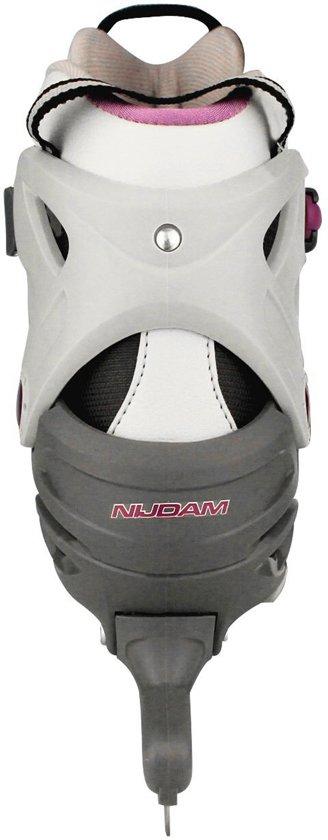 Nijdam 3413 Junior Norenschaats - Verstelbaar - Semi-Softboot - Antraciet - Maat 38-41