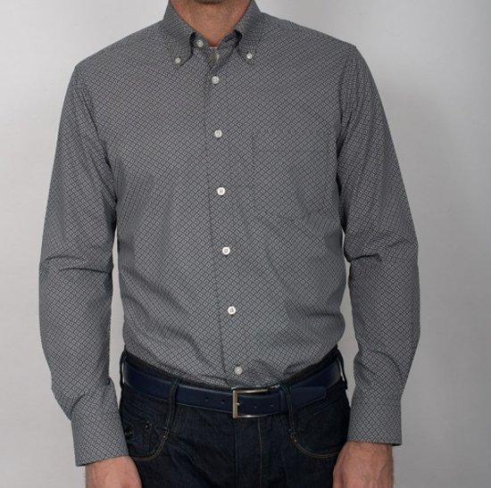 Grijs Overhemd Heren.Bol Com Gcm Heren Blouse Overhemd Grijs Print Maat Xxl