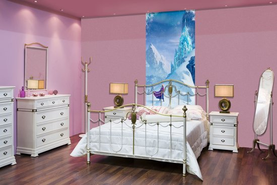 Frozen Slaapkamer Artikelen : Bol.com deursticker muursticker disney frozen blauw 91x211cm