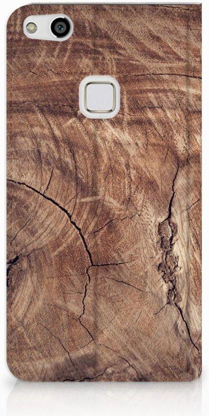 Huawei P10 Lite Standcase Hoesje Design Tree Trunk