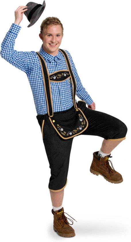 Lederhosen Zwart Heren Maat M/L - Verkleedkleding Valentinaa