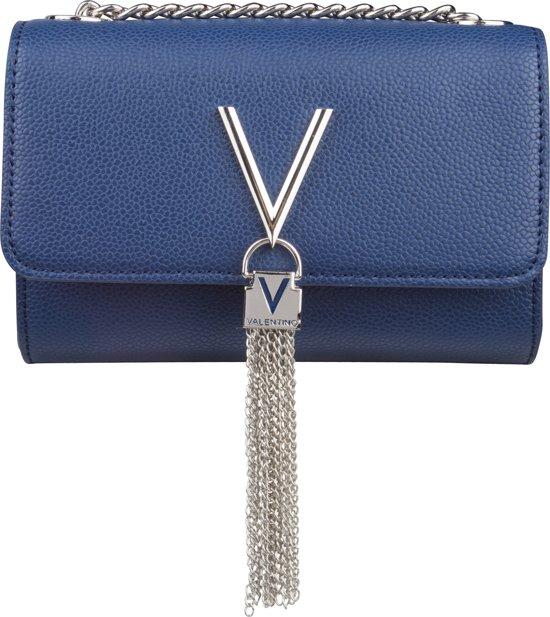 Valentino Divina Clutch Dames Schoudertas  - Blauw