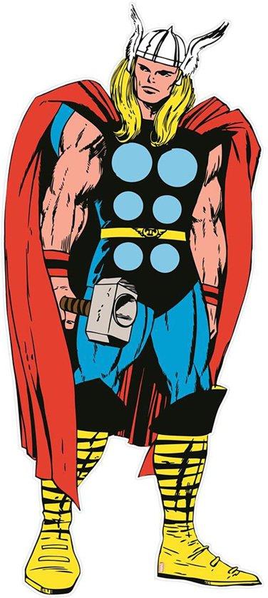 Marvel Comics - Thor - Muursticker - Rood/blauw/geel - 148x60 cm