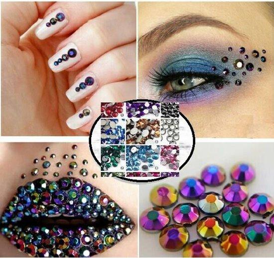 Strass nagel decoratie steentjes glitters met 2x for Decoratie steentjes