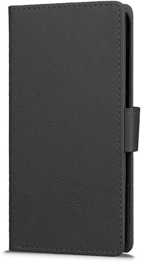 Knaldeals.com - Wileyfox Spark Plus cover - Book Wallet Case - zwart in \'t Rijpje