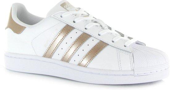 adidas Superstar W Dames Sneakers - Ftwr White/Cyber Met./Ftwr White - Maat  40 2/3