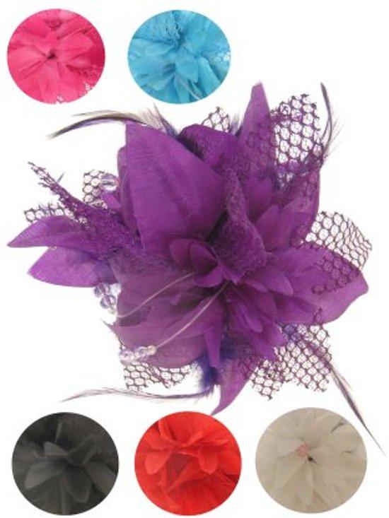 Bloemen met gaas haarklem diverse kleuren