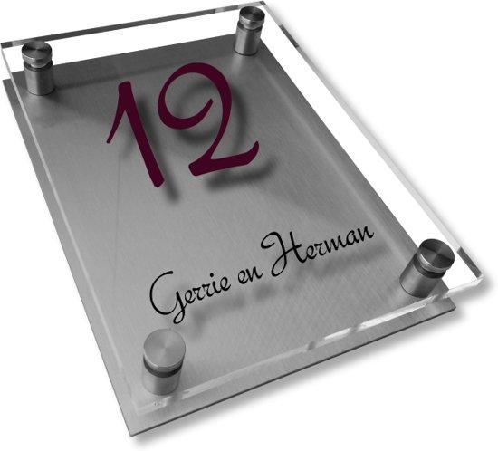 Namen enzo! Naambordje RVS | Acrylglas 20x25 cm