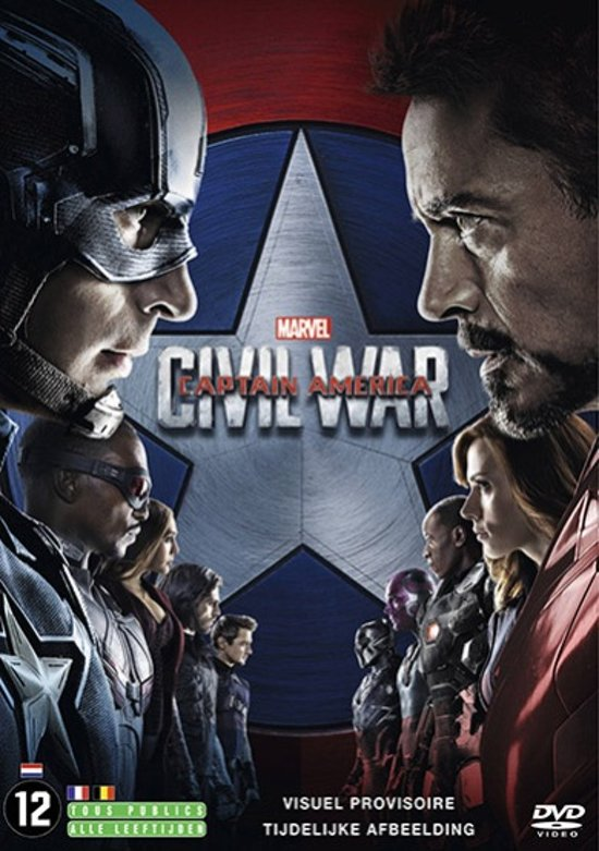 DVD cover van Captain America: Civil War