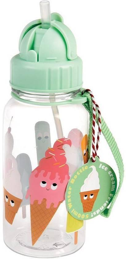 Rexinter drinkfles met rietje Icecream Friends