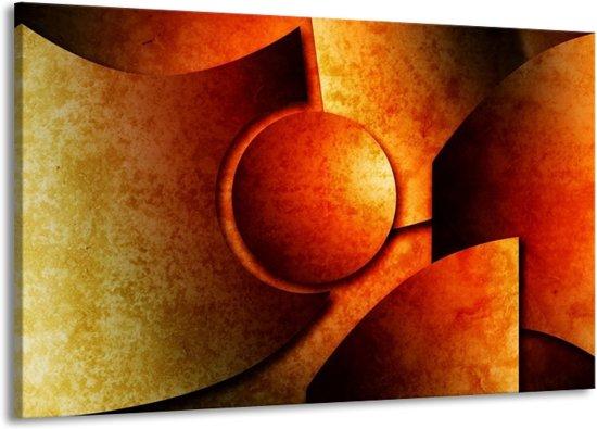 Canvas schilderij Abstract   Geel, Rood, Zwart   140x90cm 1Luik