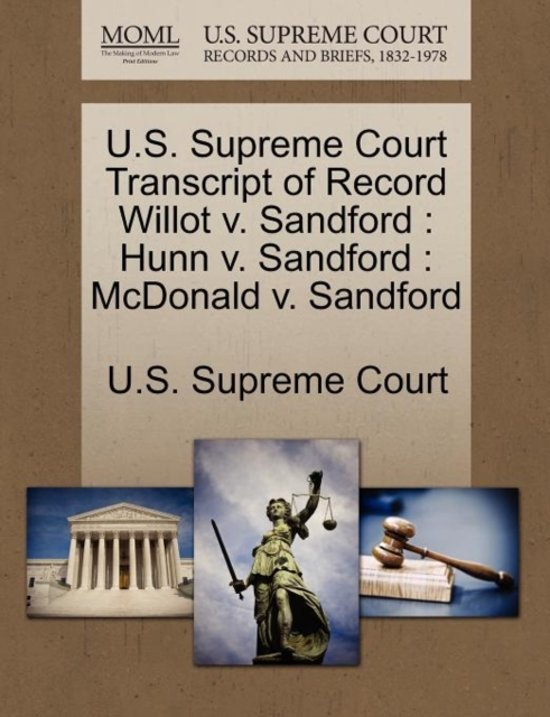 U.S. Supreme Court Transcript of Record Willot V. Sandford