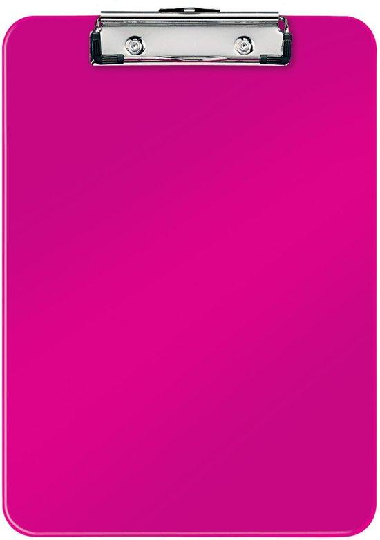 Leitz WOW Klembord Kunststof - A4 - Roze