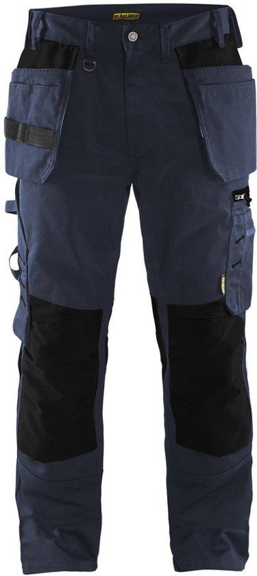 Blåkläder 1555-1860 Werkbroek met spijkerzakken Donker marineblauw/Zwart maat 50