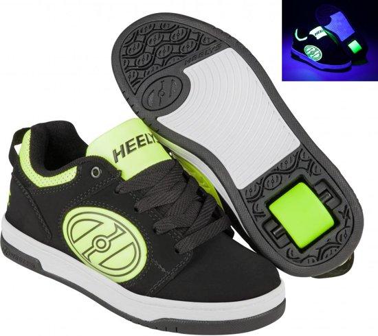 8eb30ac4b22 Heelys Rolschoenen Voyager - Sneakers - Kinderen - Maat 35 -Zwart/Geel -  Glow