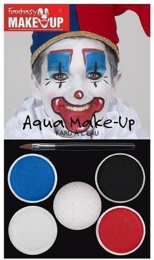 Halloween Kleuren.Schmink Set Horror Clown 5 Kleuren Clown Schminken Halloween Themafeest Make Up