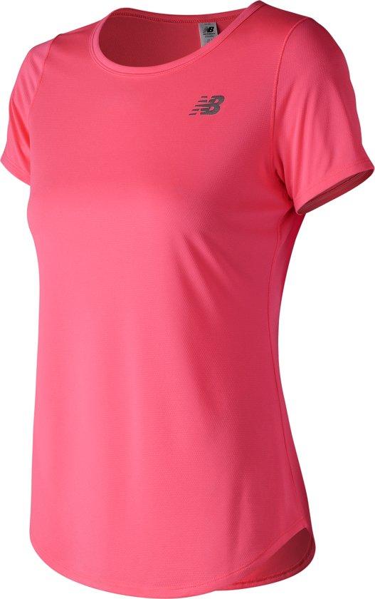 New Balance ACCELERATE SHORTSLEEVE V2 Sportshirt Dames - Pink