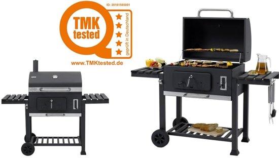 Tepro Toronto Xxl.Tepro Toronto Xxl Houtskoolbarbecue Met Inzetrooster Rvs Zwart