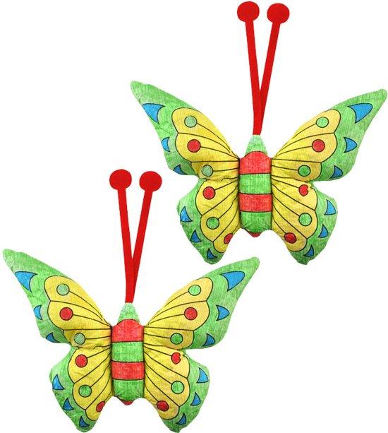 Kleurplaten Vlinders Zoeken.Kleuren Voor Peuter En Kind 3d Kleurplaten Vlinders Set Van 2 Stuks Met Stiften