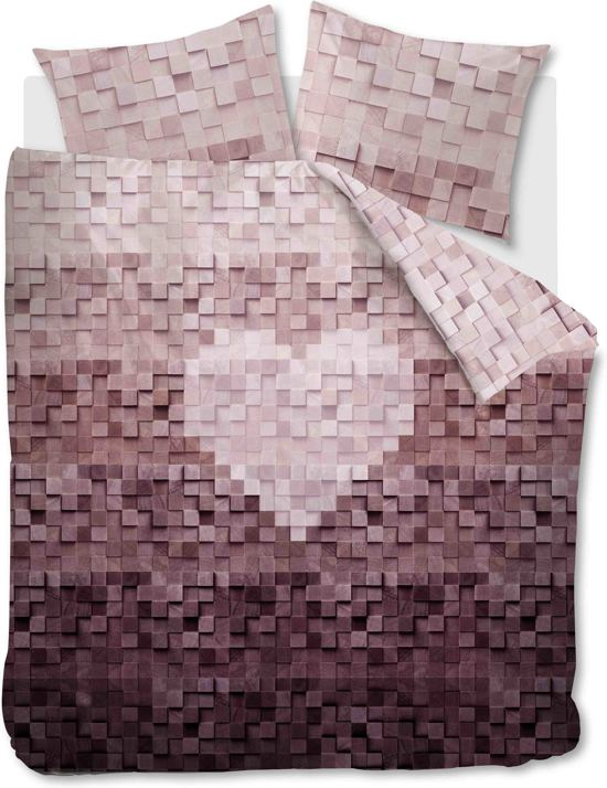 at home wooden heart dekbedovertrek eenpersoons 140x200 220 naturel. Black Bedroom Furniture Sets. Home Design Ideas