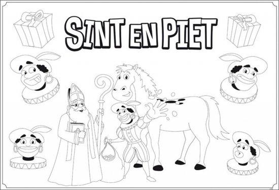 Kleurplaten Sinterklaas Cadeautjes.Bol Com Sinterklaas Kleurplaat 6 Stuks Partywinkel Speelgoed