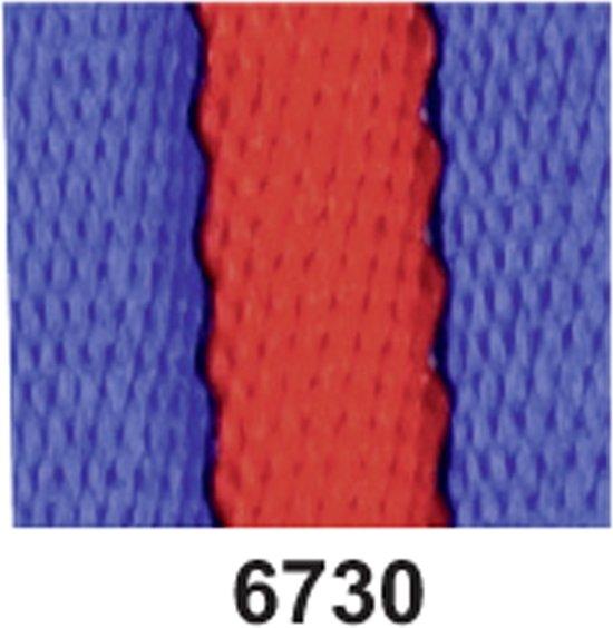 Halstertouw -Soft- kobaltblauw/rood 270 cm