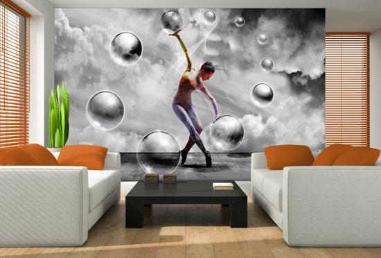 Fotobehang 3D, Dansen | Grijs | 152,5x104cm
