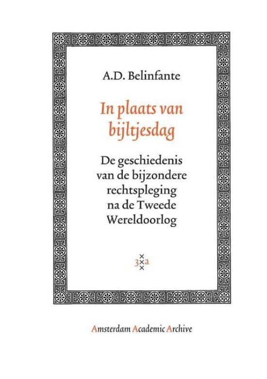 Boek cover In plaats van bijltjesdag van A.D. Belinfante (Onbekend)