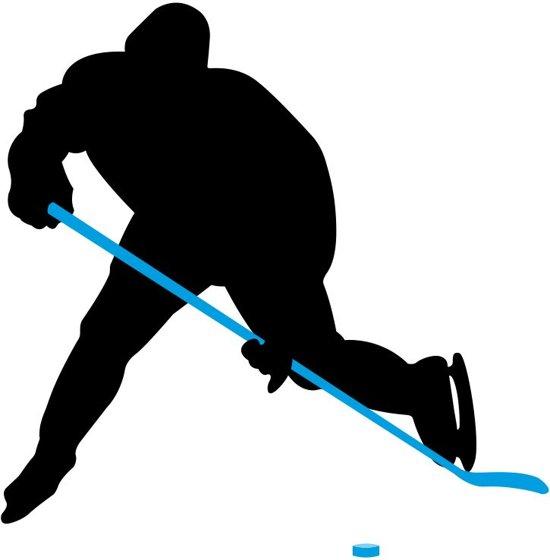 Nijdam IJshockeystick Hout/Glasfiber Jr - 137 cm - Grijs/Fluorgeel/Zilver/Zwart - Rechts