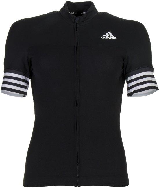 adidas Adistar SS  Fietsshirt - Maat XS  - Vrouwen - zwart/wit